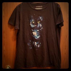 Galaxy Cat Tshirt Large